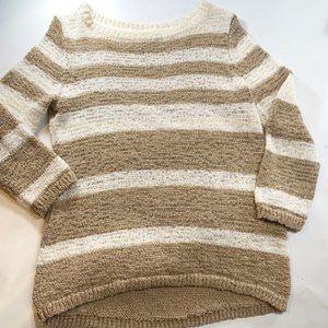 Style & Co. | Stripped Tan & Beige Sweater